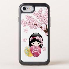 Spring Kokeshi Doll - Cute Japanese Geisha - spring gifts beautiful diy spring time new year