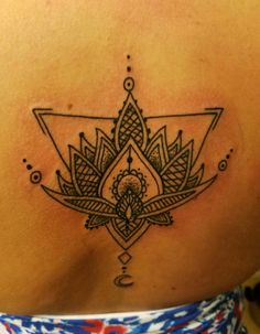 Lotus tattoo, moon, female strength