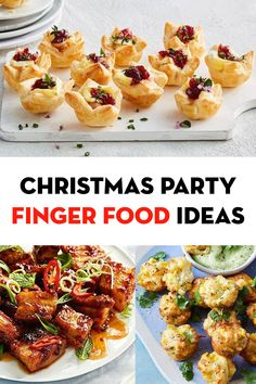 With the party season fast approaching, it's time to update your canapé menu with the lastest finger food ideas. Hot or cold, easy or gourmet, make-ahead or assemble-only, there's a recipe for… Finger Food Appetizers, Christmas Appetizers, Appetizers For Party, Appetizer Recipes, Yummy Recipes, Cooking Recipes, Finger Food Parties, Party Food Recipes, Finger Food Recipes