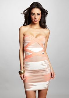 Couture Strapless print dress