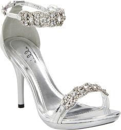 Silver 431-Sterling Rhinestone Shoes | 431-Sterling Silver Rhinestone High Heels by Ellie - the store that sells these have a very off name, but the shoes are super cute.