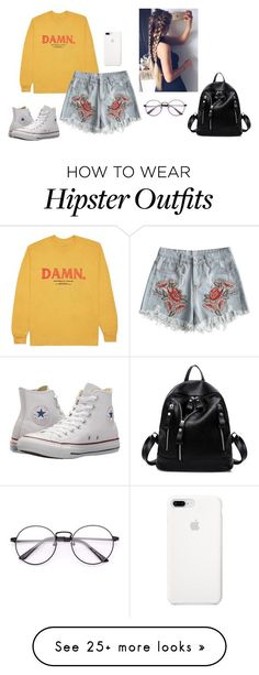 """""""Simple teen look"""" by alondra-lemus909 on Polyvore featuring KENNY and Converse #hipsteroutfits"""