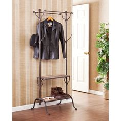 Hall Coat Rack, Tree Coat Rack, Entryway Coat Rack, Entryway Shelf, Entryway Furniture, Coat Racks, Coat Tree, Tree Furniture, Furniture Ideas