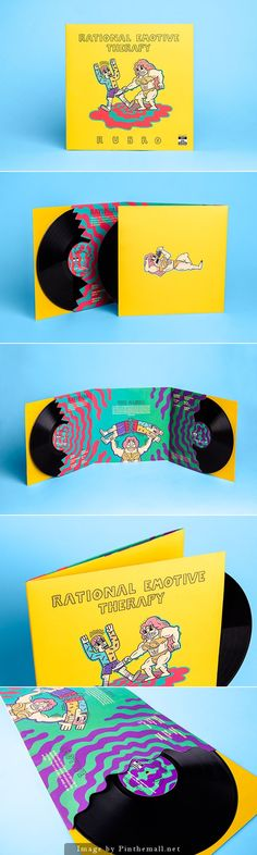 Rational Emotive Therapy * Double LP -very nice illustrations, use of colour and…