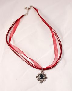 Red Profile cameo Necklace by AllisonHalkeyPhoto on Etsy, $15.00