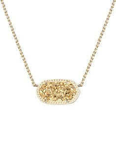 Also REALLY like this one! Elisa Pendant Necklace in Gold Drusy - Kendra Scott Jewelry