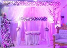 Amazing cradle ceremony decoration ideas for all your events. images for cradle decoration for naming ceremony from Quotemykaam catalogue. Birthday Balloon Decorations, Ceremony Decorations, Flower Decorations, Wedding Mandap, Wedding Stage, Desi Wedding, Wedding Ideas, Girl Decor, Baby Decor
