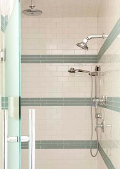 Bathroom Subway Tile Accent love this. why not add tile to top of old tile? bathroom | http