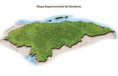 Mapa Departamental de Honduras 3D 02. LGALLP