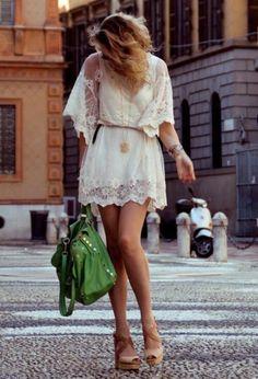 Vestidos brancos Verão 2014 para o Rèveillon   Curtos, com rendas, transparências e leveza!