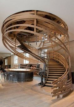 This staircase is in a restaurant but I want it in my home! Best Restaurant: Les Haras (France) / Jouin Manku The 2014 Restaurant & Bar Design Award winners. Bar Design Awards, Architecture Design, Beautiful Architecture, Stairs Architecture, Creative Architecture, Architecture Interiors, Architecture Restaurant, Architecture Awards, Gothic Architecture