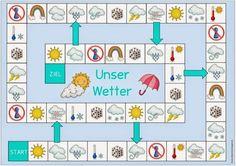 """Ideenreise: Spielfeld """"Unser Wetter"""" für DAZ"""