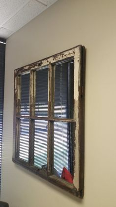 Distressed White Window Mirror Window by TheDecorativeCompany