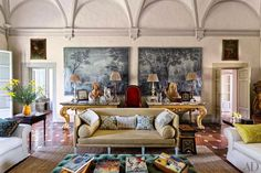 A Vicarious Visit to Camilla Guinness' Arniano - Interior Designer Homes Inspirations - Artemest