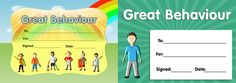 Download our twin pack of 'Great Behaviour' certificates. www.teachingessentials.co.uk/store.html