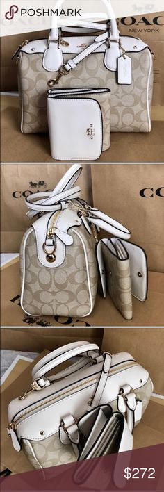 🍀Coach Set🍀 100% Authentic Coach Purse Crossbody and Wallet, brand new with tag!😍😍😍 Coach Bags Crossbody Bags