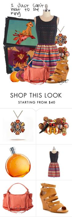 """""""I Just Can't Wait to Be King - Disney's Lion King"""" by rubytyra ❤ liked on Polyvore featuring Bee Charming, Hermès, Kensie, Kooba, Modern Rebel, disney, disneybound, song and lionking"""