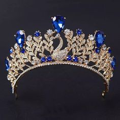 Bridal Crown, Bridal Tiara, Floral Headband Wedding, Crown For Women, Crystal Crown, Royal Jewelry, Silver Jewelry, Tiaras And Crowns, Pageant Crowns
