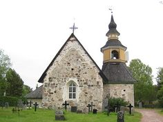 suomi keskiaikainen kirkko - Google-haku Place Of Worship, Arch, Mansions, World, House Styles, Places, Google, Home Decor, Longbow