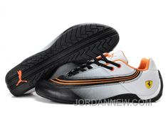 http://www.jordannew.com/puma-ferrari-leather-shoes-white-black-orange-for-sale.html PUMA FERRARI LEATHER SHOES WHITE/BLACK/ORANGE FOR SALE Only $88.00 , Free Shipping!