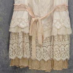 dress custom, redo Layered boho ruffles and lace upcycled vintage fabrics by Resurrection Rags, via Flickr