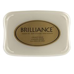 Michael's gold ink stamp pad brilliance™ pearlescent pigment ink $7.99 Item# 10303252
