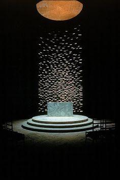 """Massachusetts Institute of Technology, Kresge Auditorium and Chapel, Cambridge, Massachusetts, 1950-55. Chapel interior."" Photographer Balthazar Korab."