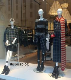 Twin-Set Milan - Autumn 2017 - Womenswear Collection - blue & black outfits with black shoes 2017-09-29 #ispirablog #twinset