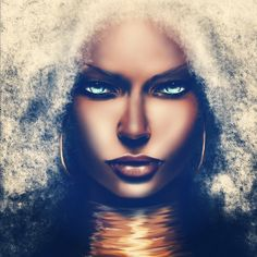 """'A Storm is comin' ororo from xmen by ~SoDesigns1 on deviantART"" - Love!"