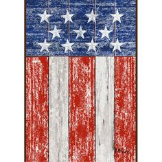 Distressed Wood USA Flag