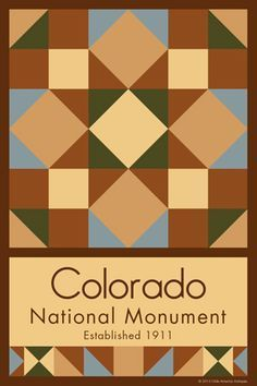 Colorado National Monument Quilt Block designed by Susan Davis. Susan is the owner of Olde America Antiques and American Quilt Blocks She has created unique quilt block designs to celebrate the National Park Service Centennial in 2016. These are the first quilt blocks designed specifically for America's national parks and are new to the quilting hobby.