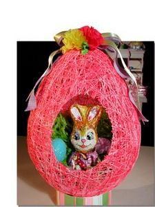 Make a balloon string egg for Easter