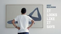 """Geoff McFetridge  - """"It Looks Like it Says"""" show pieces. Fantastic simplicity, colors and shapes."""