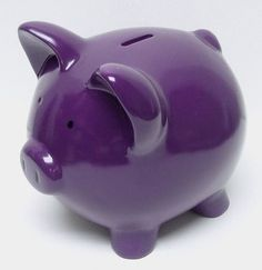 Purple Piggy Bank  with <3 from JDzigner. www.jdzigner.com