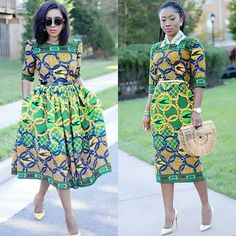 We love how designers have been creative with old styles and revamped them into new looks that are to love. There are so many African print styles out there but… Best African Dresses, African Traditional Dresses, African Fashion Dresses, Bold Fashion, Fashion Prints, Fashion Women, African Print Fashion, African Prints, African Fabric