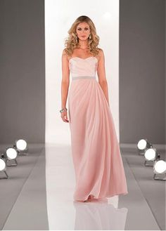 5cbca7c6bfea Magbridal Stunning Satin   Chiffon Sweetheart Neckline Natural Waistline  Floor-length A-line Bridesmaid Dress