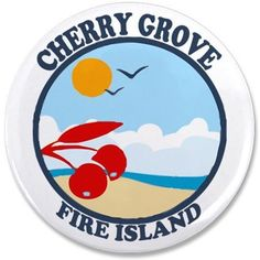 "Cherry Grove - Beach Design 3.5"" Button on CafePress.com"