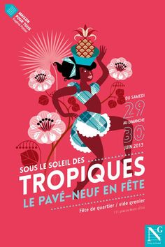 Tropical Poster by Agence de communication Graphéine