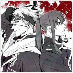 D-gray man - Lavi & Kanda Yuu from Katsura Hoshino's Instagram, I love this pic.