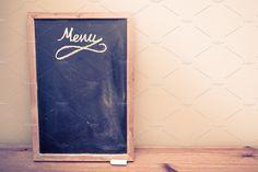 Blackboard Menu with copy space by FudgeTiger on @creativemarket