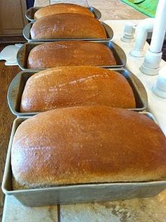 Easy bread recipe This was awesome and super easy will make weekly! Change whole wheat flour to 6 cups and white to 8 cups.