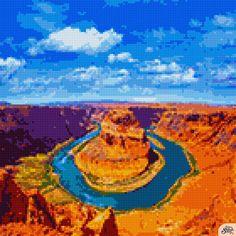 Cross Stitch Tree, Cross Stitch Patterns, Stitch App, Cross Stitch Pictures, Pixel Art, Crafts, Painting, Crossstitch, Puzzle