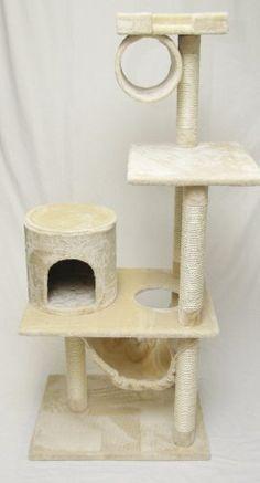 "$47 60"" New Cat Tree / Cat Condo / Cat Furniture Scratcher- Beige by generic, http://www.amazon.com/dp/B00AVDVV9A/ref=cm_sw_r_pi_dp_ROSerb01T6YMK"