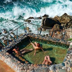 best in the moonlight:: Esalen Hot Springs Spa, Big Sur. Been to Big Sur Oh The Places You'll Go, Places To Travel, Travel Destinations, Places To Visit, Dream Vacations, Vacation Spots, The Road, Roadtrip, California Travel