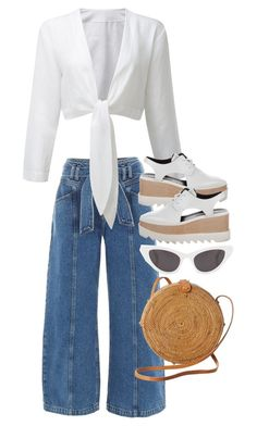"""Untitled #3344"" by elenaday ❤ liked on Polyvore featuring River Island, Faithfull, STELLA McCARTNEY, Yves Saint Laurent and basketbags"