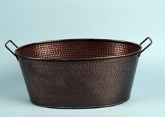 Copper Hammered Metal, Oval, 2 gal.