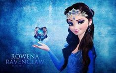 """The Four Founders (Frozen edition) - Elsa as Rowena Ravenclaw """"Wit beyond measure is a man's greatest treasure."""" Also this is just a really pretty Elsa :) Emo Disney, Disney Magic, Disney Movies, Disney Characters, Disney Princesses, Disney Crossovers, Disney Art, Harry Potter Crossover, Fandom Crossover"""