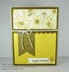 One Sheet Wonder, Park Lane DSP, Something to Say, Stampin' Up, Love, Cindy Techlin, Stampin' An Ink Trail