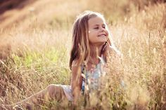 love the light, close up of kids in nature