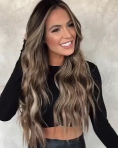 Brown Hair Balayage, Brown Blonde Hair, Hair Color Balayage, Balyage Long Hair, Dark Brown Hair With Blonde Highlights, Balayage Hair Brunette With Blonde, Dark Blonde Hair Color, Hair Colour, Blonde To Brunette Before And After